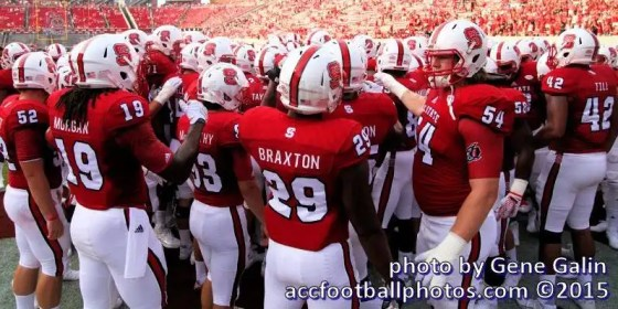 NC State football players