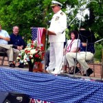 Mike Cross spoke at the the Memorial Day gathering in Goldston several years ago.