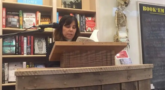 Author Dori Ann Dupre reads from her new book at McIntyre's Fine Books in Fearrington Village.photo by Gene Galin