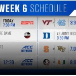 ACC Week 6 Football Schedule