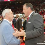 UNC basketball coach Roy Williams & NCSU coach Mark Gottfried.