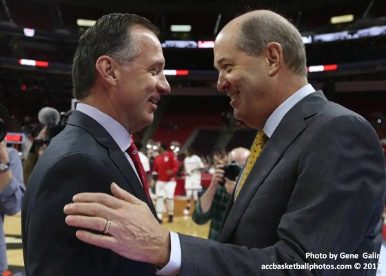NC State coach Mark Gottfried and Pitt coach Kevin Stallings