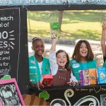 girl scout cookies booth