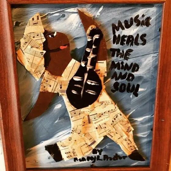 Fearrington Folk Art - Music makes the mind soar. Photo by Gene Galin