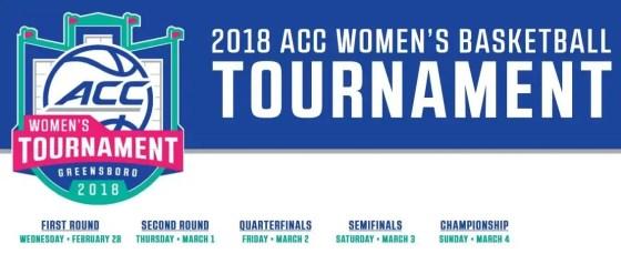 2018 ACC Women Basketball Tournament Logo