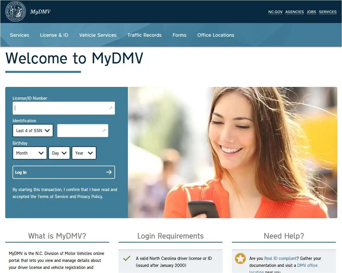 Vehicle property tax receipts available on official ncdmv for Nc division of motor vehicles driving log