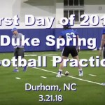 first day of duke football practice 2018
