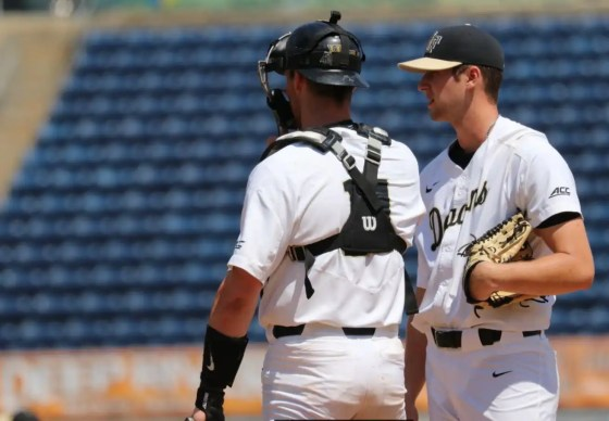 wake forest catcher and pitcher