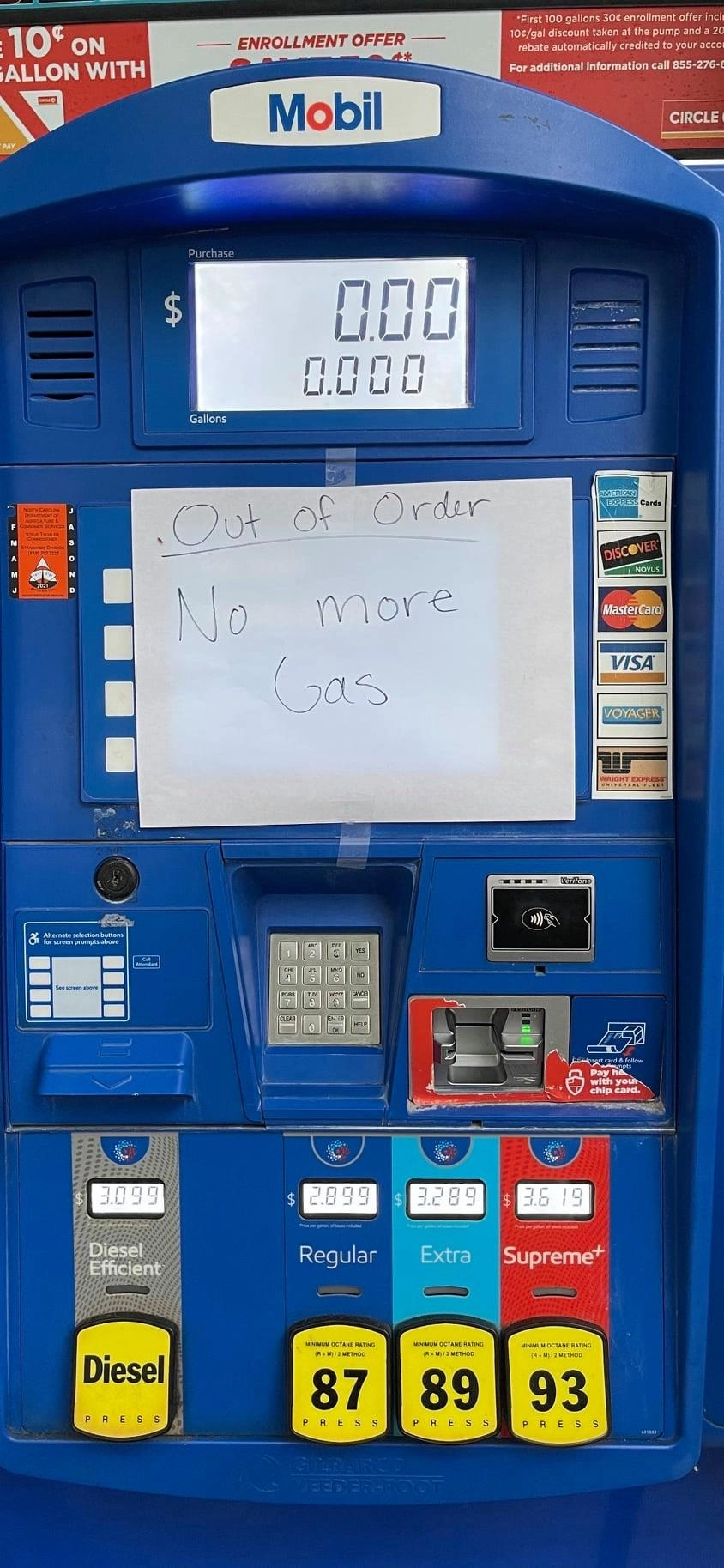 60% of Triangle gas pumps are empty after spree of buying