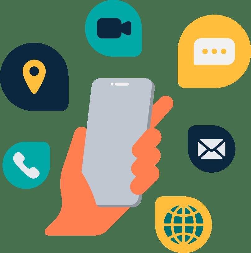 Handset omnichannel messages