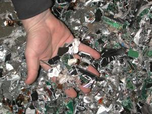 Shredded circuit boards