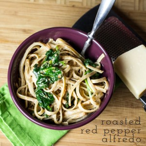 roasted red pepper alfredo // chattavore