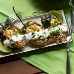 Stuffed Poblanos with Corn & Orzo