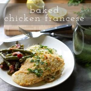 baked chicken francese // chattavore