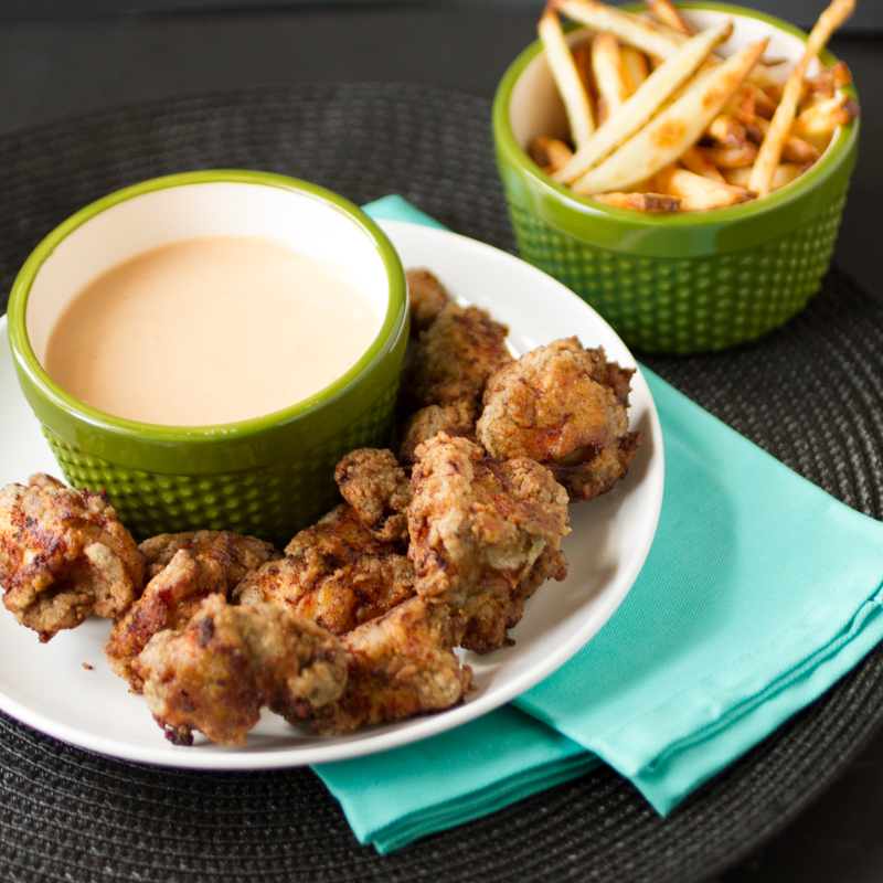Is there anything tastier than Chick-fil-a nuggets and sauce? Now you can make your own homemade Chick-fil-a sauce and nuggets!   Recipe from familycuisine.net