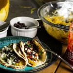 Spaghetti Squash Tacos with Black Beans