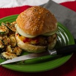 Sriracha Drizzled Panko Crusted Pork Sandwich