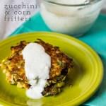 Zucchini and Corn Fritters