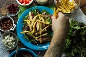 steak & fries salad | chattavore