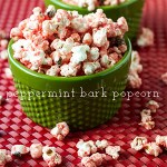 White Chocolate Peppermint Bark Popcorn