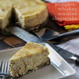 marbled pumpkin cheesecake with chattanooga whiskey | chattavore