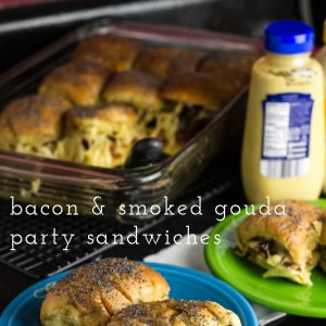 Bacon & Cheese Party Sandwiches | chattavore