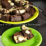 Red Wine Cheesecake Brownies