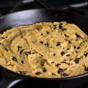 My brown butter chocolate chip skillet cookie is better than any cookie cake you can buy at the mall! It's perfect served with salted whiskey caramel and thick hot fudge sauce!   @chattavore