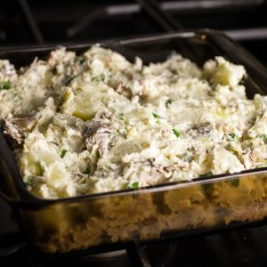 Pulled pork potato casserole is like a pulled pork baked potato in a pan! | @chattavore