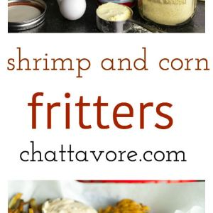 chattavore.com | These shrimp and corn fritters are like a fried fish dinner with hushpuppies in one neat little package! They're delicious served with this simple remoulade sauce.