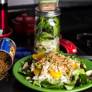 chattavore.com   This Asian chicken salad is delicious for lunch or dinner whether you assemble it on a plate or in a Mason jar!