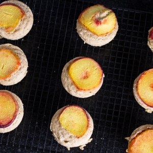 Peach pancake muffins are the perfect way to serve pancakes for breakfast or brunch without having to fuss over them!   chattavore.com