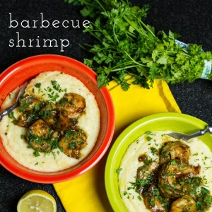 """Barbecue shrimp seems like a bit of a misnomer to me (as a Southerner, """"barbecue"""" means low and slow), but this is so good...I'll allow it! 