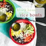Black Bean Rice Bowl with Garlic