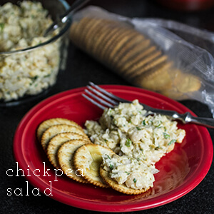 This chickpea salad is a simple and delicious alternative to tuna or chicken salad. You won't miss the meat!   chattavore.com