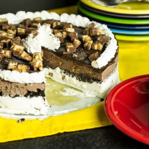 This homemade ice cream cake is super-simple, completely customizable, and extremely economical! | chattavore.com