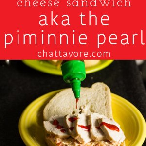 """This chicken & pimento cheese sandwich is affectionately named """"The Piminnie Pearl"""" (Southern lady with a kick)   chattavore.com"""