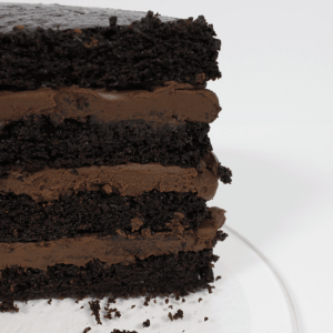 Vegan chocolate on chocolate cake by Loveletter Cake Shop on Chattavore | chattavore.com