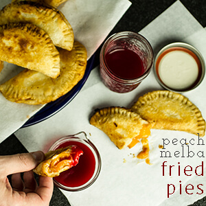 Seasonal peaches and raspberry sauce pair perfectly in this Southern take on peach Melba, fried pies!   chattavore.com