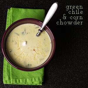 Green chile & corn chowder is a great way to welcome Fall OR use up the last of the seasonal summer vegetables from your produce market! | chattavore.com