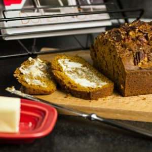 This pumpkin bread is an amazing Fall menu item from Kristin Sollenne's new cookbook Domestic Chic! | chattavore.com
