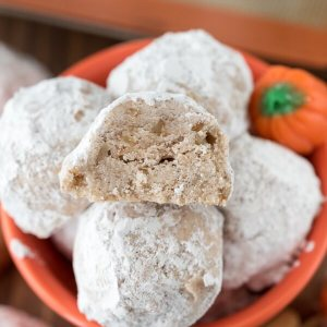 This Halloween, why not make your own candy? I dug up ten great candy recipes from fellow bloggers, like these pumpkin spice snowballs from Crazy for Crust, for you! | chattavore.com