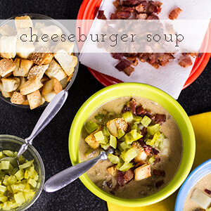 Cheeseburger soup? It's everything you'd expect from a cheeseburger-including the bun-in soup form. And it's delicious. | chattavore.com