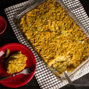 This biscuit and cornbread dressing is full of traditional flavors and is perfect on your Thanksgiving table. And in the South, it's always called dressing, y'all!   chattavore.com