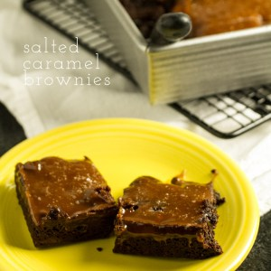Salted caramel brownies are gooey, sweet, a little salty...and worth every.single.calorie. | chattavore.com