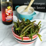 Oven-Roasted Green Beans with Salt and Vinegar