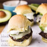 Black Bean Sliders with Cilantro-Lime Cream