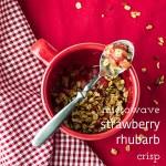 Easy Strawberry Rhubarb Crisp (in a mug)