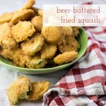 Beer Battered Zucchini and Yellow Squash