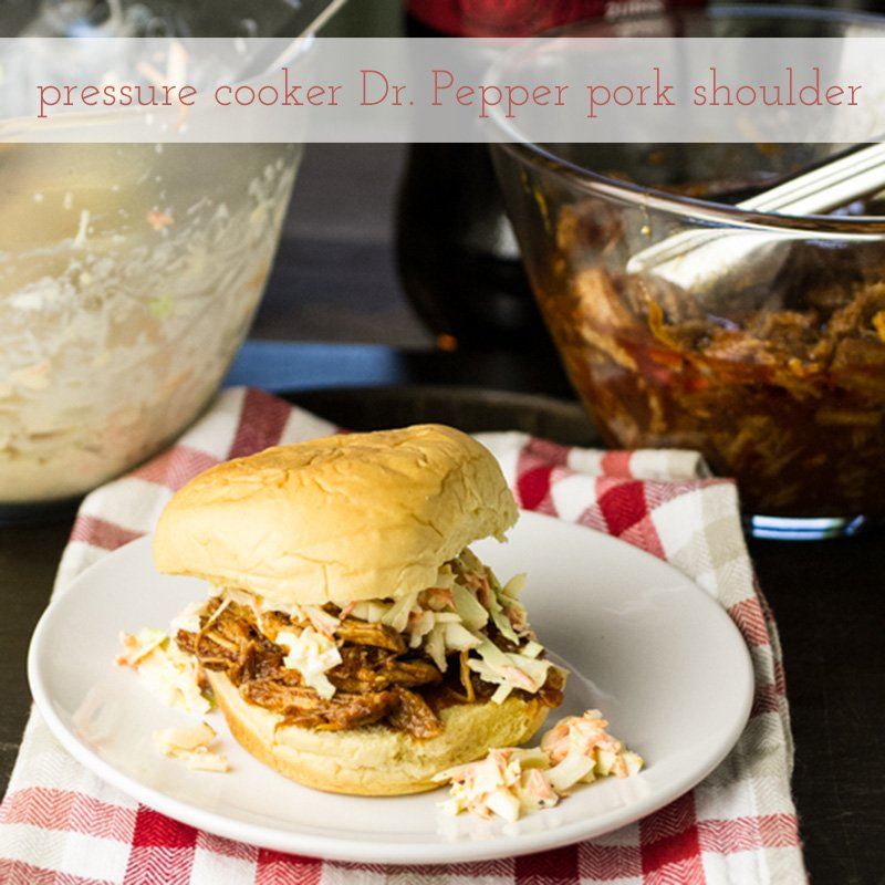 Dr. Pepper Pork Shoulder with text